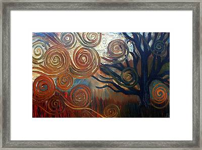 Framed Print featuring the painting Untitled Tree by Monica Furlow