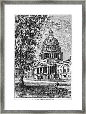 U.s. Capitol Framed Print by Granger