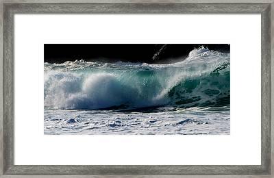 Waves Framed Print by Barbara Walsh