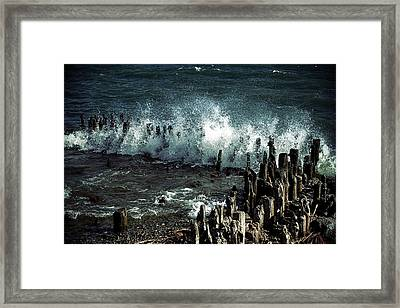 Waves Framed Print by Joana Kruse