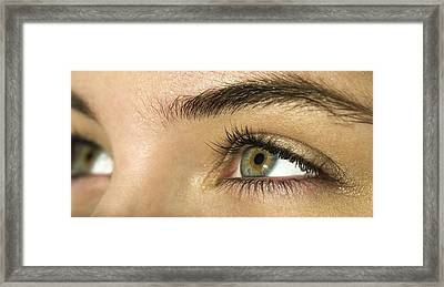 Woman's Eyes Framed Print by