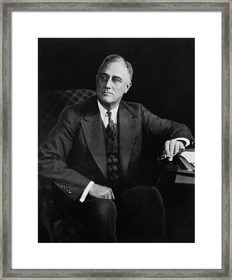 President Franklin D. Roosevelt Framed Print