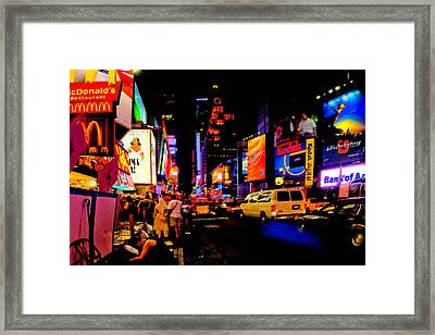 42nd. Street Framed Print by David Hahn