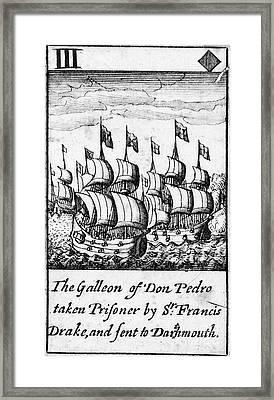 Spanish Armada, 1588 Framed Print by Granger