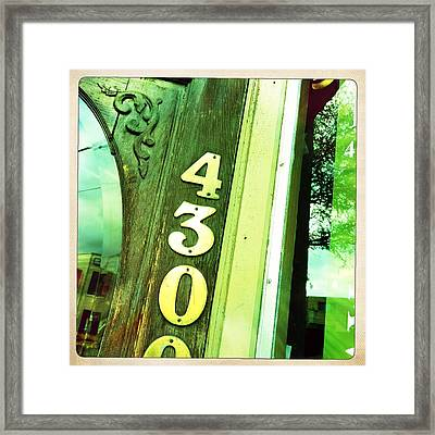 4300 Framed Print by Lori Knisely
