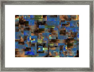 Framed Print featuring the digital art 4312 by Leo Symon