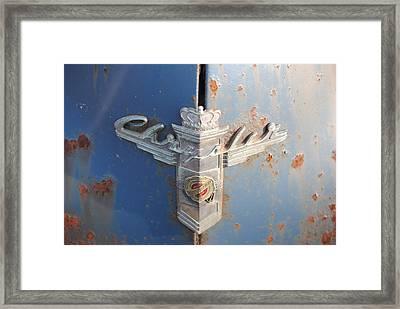 48 Chrysler Hood Emblem Framed Print by Gordon H Rohrbaugh Jr