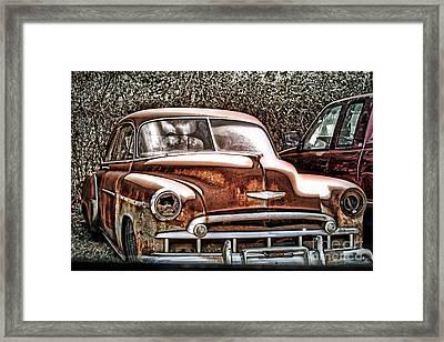 49 Chevy Framed Print by Joe Finney