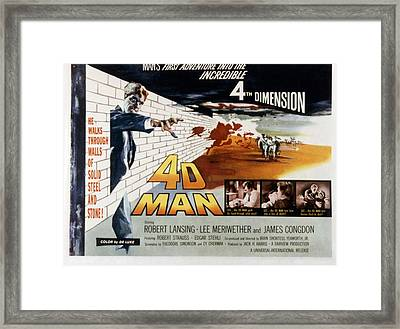 4d Man, Robert Lansing, 1959 Framed Print by Everett