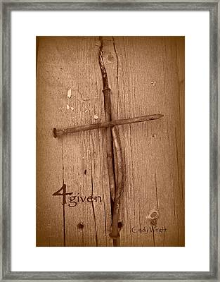 4given Forgiven Framed Print by Cindy Wright