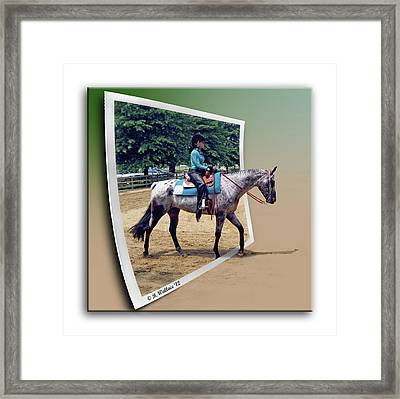 4h Horse Competition Framed Print
