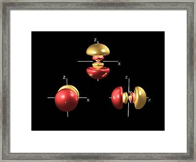 4p Electron Orbitals Framed Print by Dr Mark J. Winter
