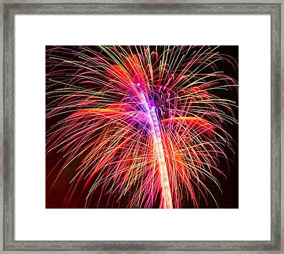 4th Of July - Independence Day Fireworks Framed Print by Gordon Dean II