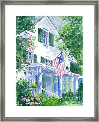 4th Of July In Georgia Framed Print by Bambi Rogers