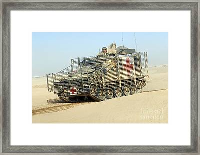 A Fv107 Scimitar Armoured Framed Print by Andrew Chittock