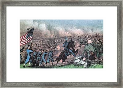 American Civil War, Battle Framed Print by Photo Researchers