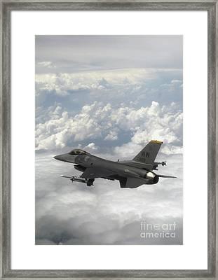 An F-16 Fighting Falcon In Flight Framed Print