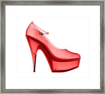 An X-ray Of A High Heel Shoe Framed Print