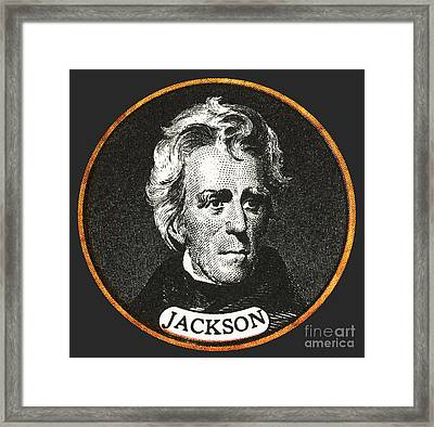 Andrew Jackson, 7th American President Framed Print by Photo Researchers