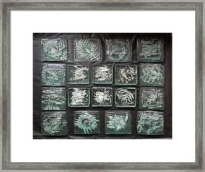 Antarctic Ice Flow Framed Print by Sarah King