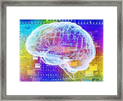 Artificial Intelligence Framed Print by Pasieka