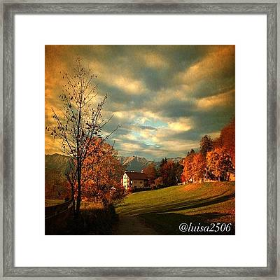 Autumn In South Tyrol Framed Print