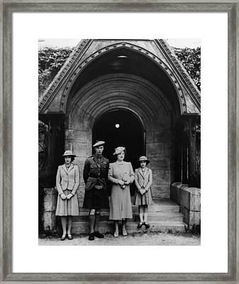 British Royal Family. From Left Future Framed Print