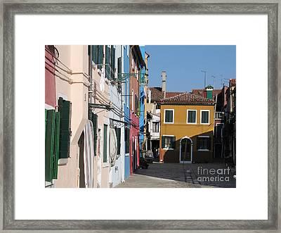 Burano Island. Venice Framed Print by Bernard Jaubert