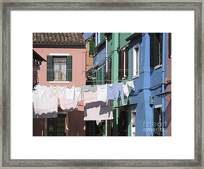 Burano.venice Framed Print