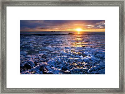 Burns Beach Framed Print by Imagevixen Photography