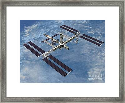 Computer Generated View Framed Print by Stocktrek Images