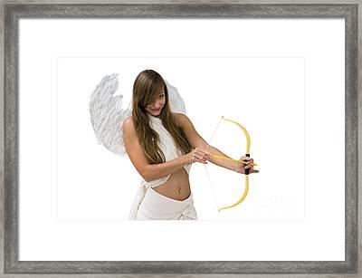 Cupid The God Of Desire Framed Print by Ilan Rosen