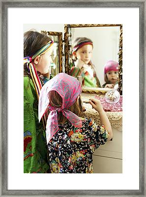 Dressing Up Framed Print by Ian Boddy
