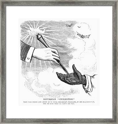 Election Cartoon, 1876 Framed Print
