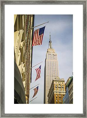 Framed Print featuring the photograph Empire State Building by Theodore Jones