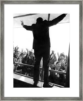 Former Vice President Richard Nixon Framed Print by Everett