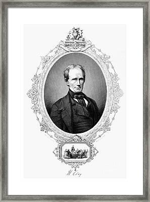 Henry Clay (1777-1852) Framed Print by Granger