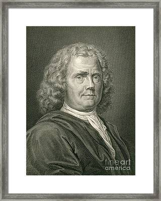 Herman Boerhaave, Dutch Physician Framed Print by Science Source