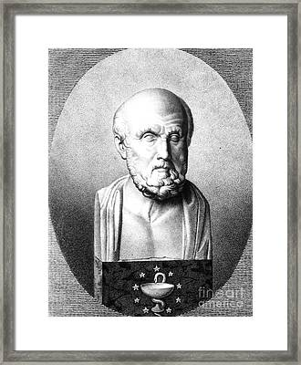 Hippocrates, Greek Physician, Father Framed Print