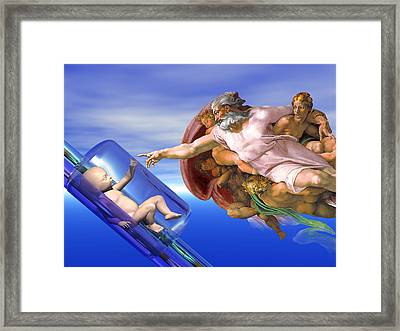 Human Cloning Framed Print by Laguna Design