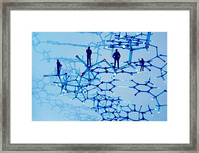 Human Genome, Conceptual Image Framed Print by Lawrence Lawry