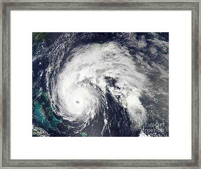 Hurricane Earl Framed Print