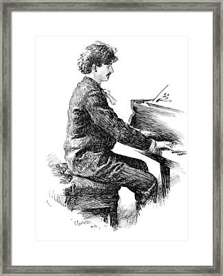 Ignace Jan Paderewski Framed Print by Granger