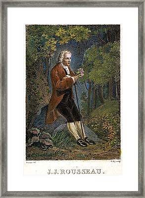 Jean-jacques Rousseau Framed Print by Granger