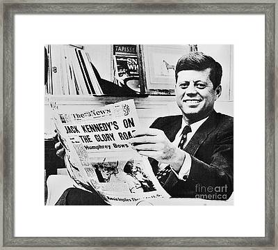 John F. Kennedy (1917-1963) Framed Print by Granger