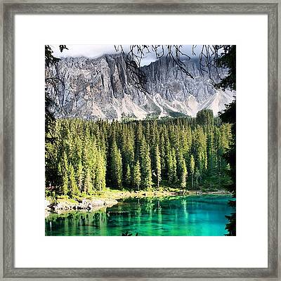 Lake Of Carezza Framed Print