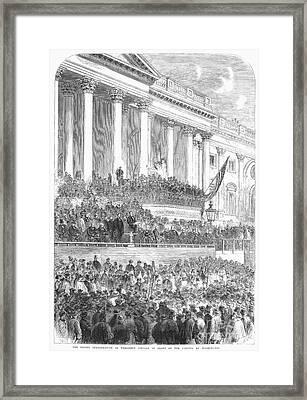 Lincolns Inauguration Framed Print by Granger