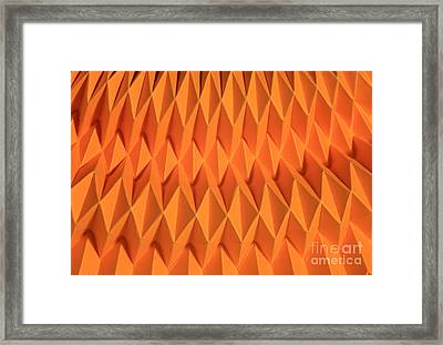 Mathematical Origami Framed Print by Ted Kinsman