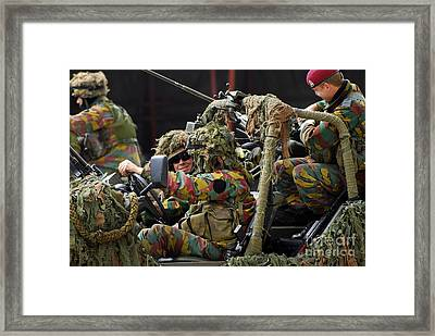 Members Of A Recce Or Scout Team Framed Print