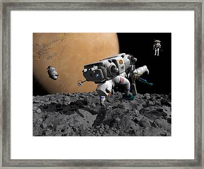 Mission To Mars, Artwork Framed Print by Walter Myers